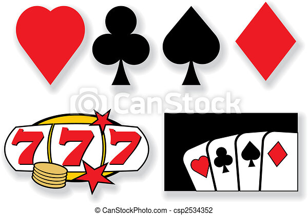 vector playing cards and casino design elements - csp2534352