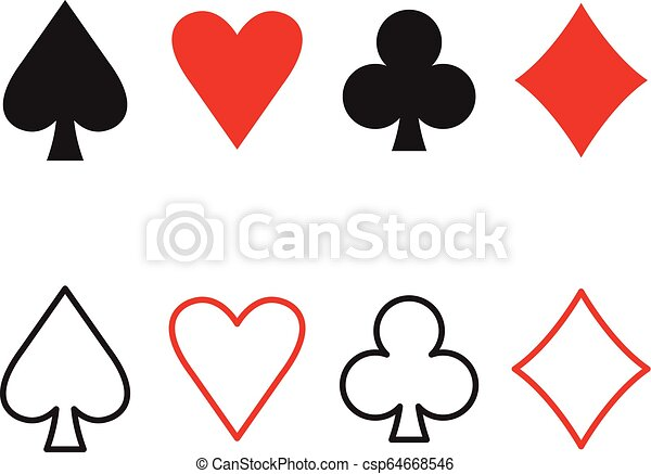 spade playing card vector  Vector playing cards icons. Playing card suits spades, hearts, diamonds and  clubs.