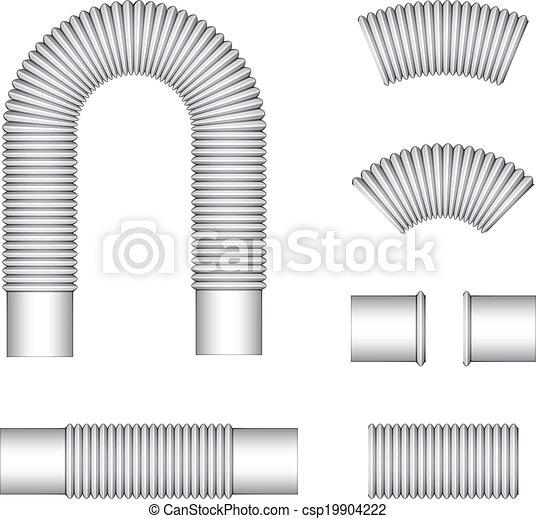 vector plumbing corrugated flexible tubes - csp19904222