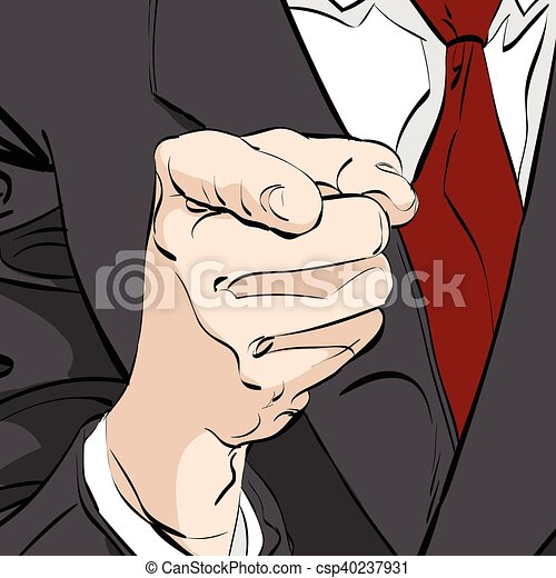 vector pointing finger - csp40237931