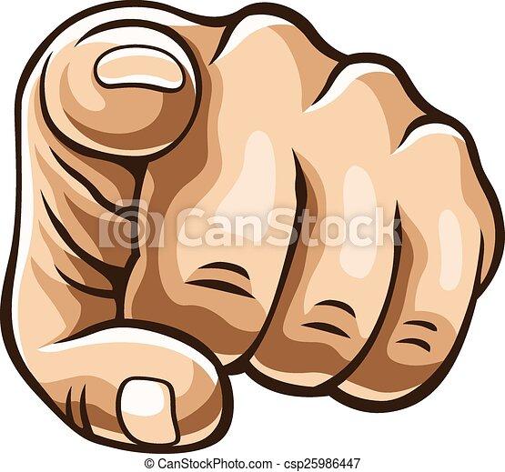 Vector pointing finger illustration - csp25986447