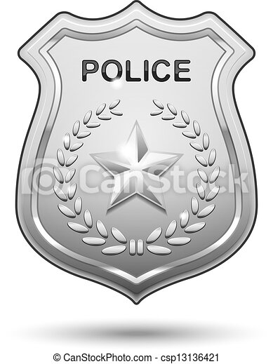 vector police badge isolated on white background rh canstockphoto com police badge vector graphic vector police badge free