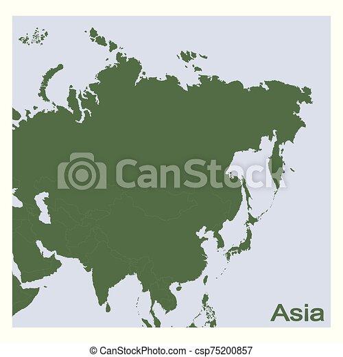 vector Political Map of Asia - csp75200857