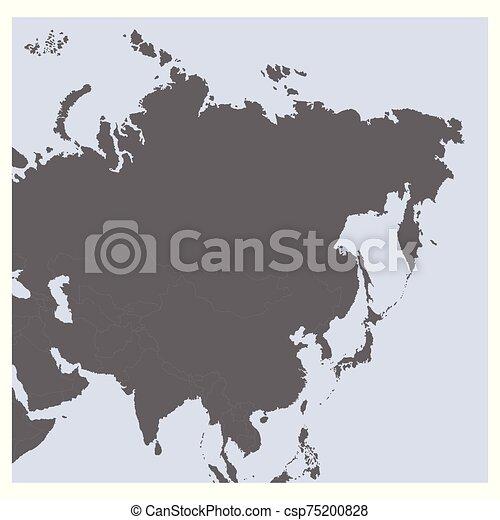 vector Political Map of Asia - csp75200828