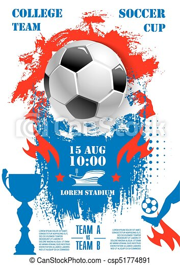 Vector poster for soccer football championship cup. Soccer ...