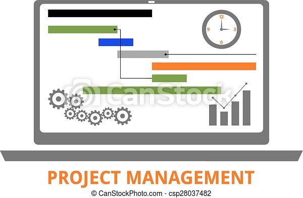 vector - project management - csp28037482