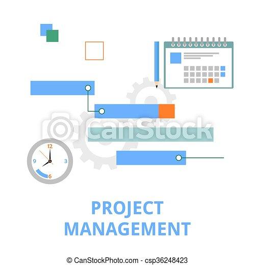 vector - project management - csp36248423
