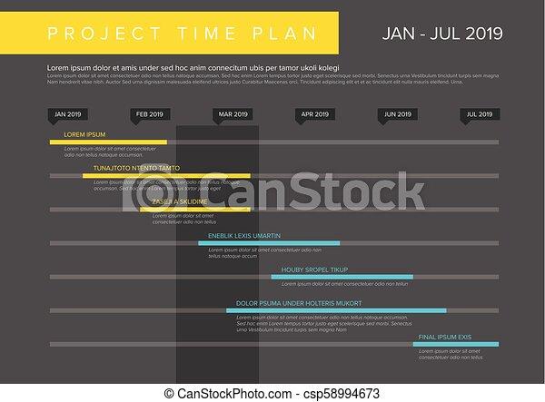 vector project time plan gantt graph vector project timeline graph