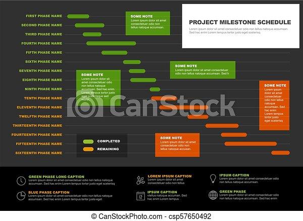 vector project timeline gantt graph vector project timeline graph