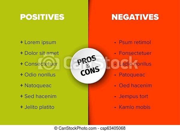 vector pros and cons compare template table vector template for