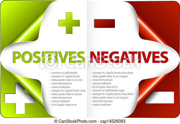Vector Pros And Cons Compare Template Vector Template For Positives