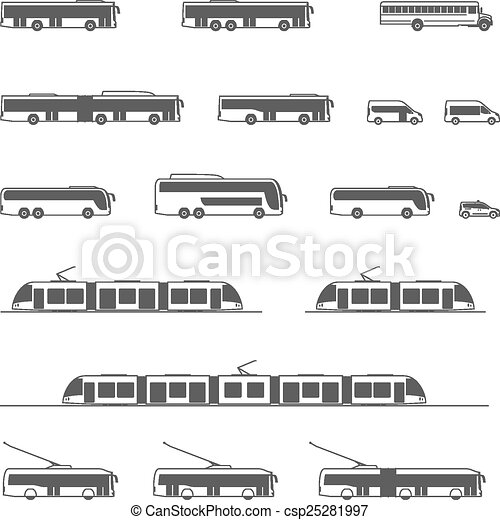 Vector public transport icons - csp25281997
