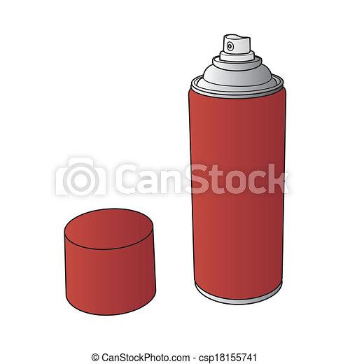 La pintura de spray puede vectorizar - csp18155741