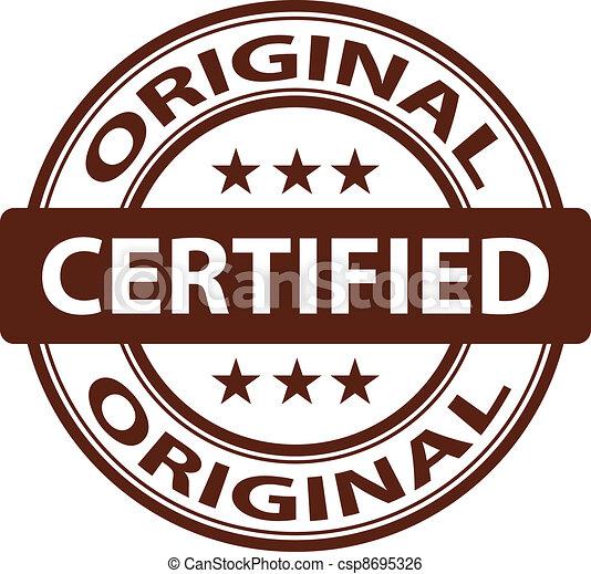 vector pure Original stamp - csp8695326