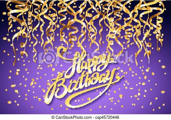 Happy Birthday Design Vector ~ Vector purple party background. happy birthday celebration eps