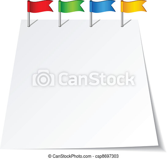 vector push pin flags - csp8697303