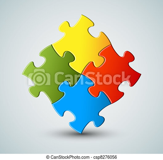 Vector puzzle / solution background - csp8276056