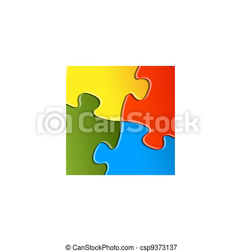 Vector puzzle / solution background - csp9373137