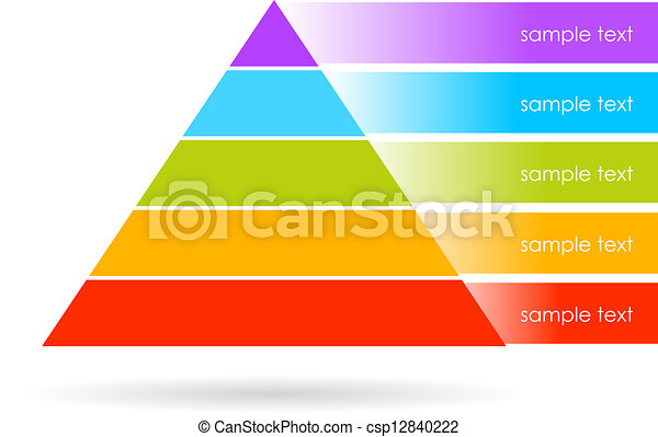 Vector pyramid graphics - csp12840222