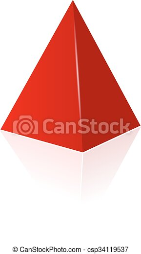 Vector pyramid illustration - csp34119537
