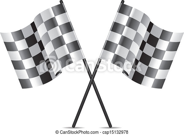 vector  racing flags icon - csp15132978