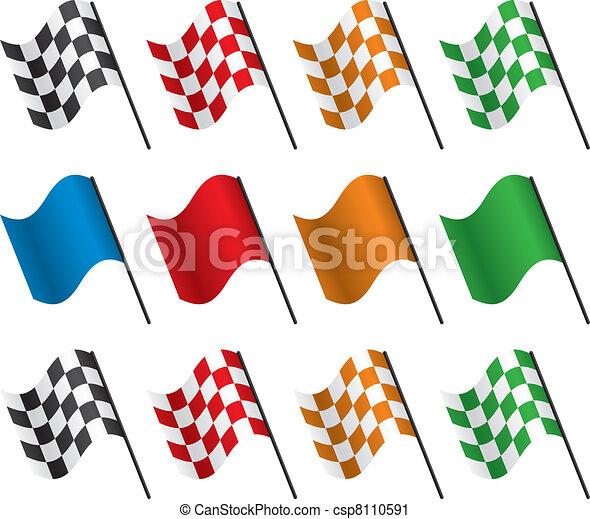vector racing flags - csp8110591