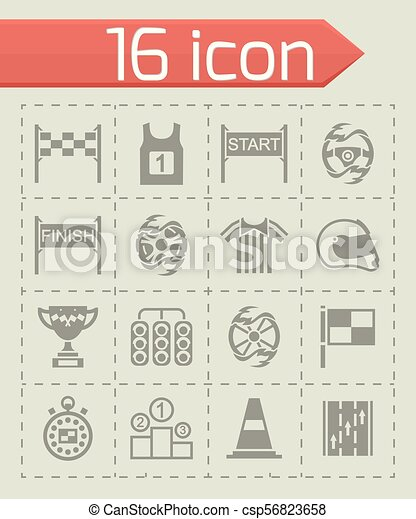 Vector Racing icon set - csp56823658