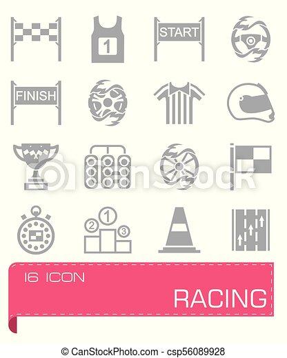 Vector Racing icon set - csp56089928