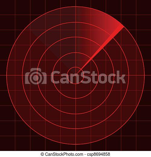 vector radar screen - csp8694858