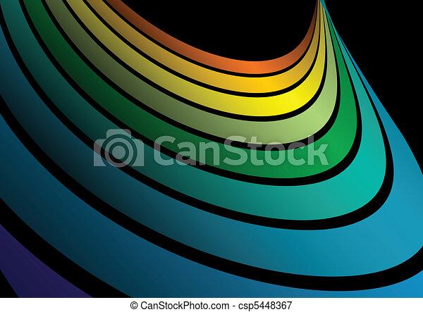 Vector rainbow arc - csp5448367