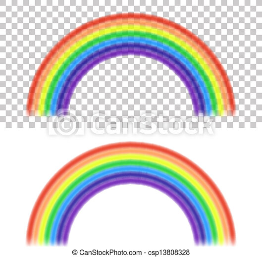 vector rainbow on transparent and white background vector rh canstockphoto com how to insert clipart without white background clip art with no white background