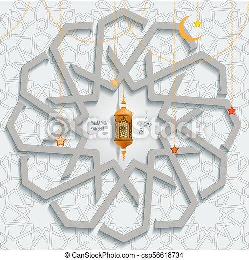 Vector ramadan karem islamic greeting card with arabic moroccan vector ramadan karem islamic greeting card with arabic moroccan pattern geometric ornament m4hsunfo