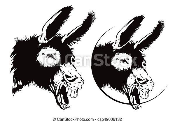 Ilustración de vectores. Burro sonriente. - csp49006132