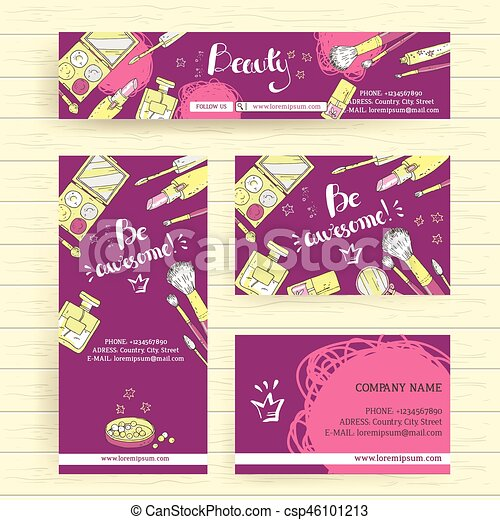 Business card design template business card flyer for vector vector ready design template for makeup artist makeup studio or prinsesfo Image collections