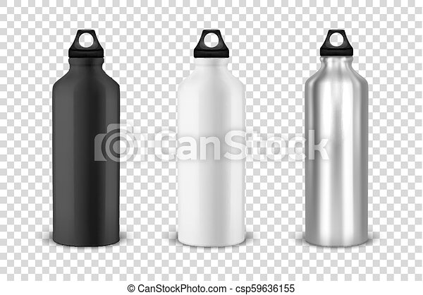 Vector Realistic 3d Black White And Silver Empty Glossy Metal Water