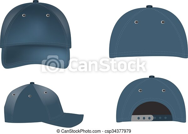 Vector realistic baseball caps - front bd0f444f3fbe