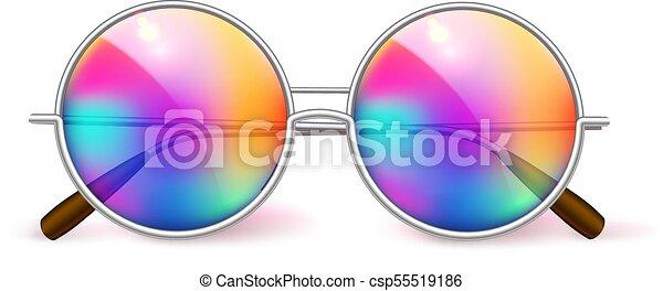 de93d5b4e2 Vector realistic eyeglasses retro circle hipster. Vector realistic ...