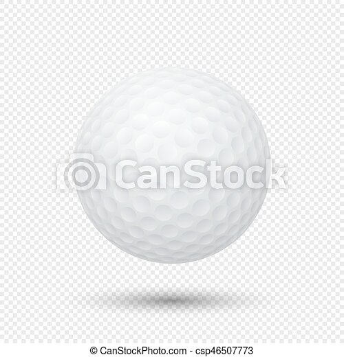 Vector Realistic Flying Golf Ball Closeup Isolated On Transparent Background Design Template In Eps10 Vector Realistic