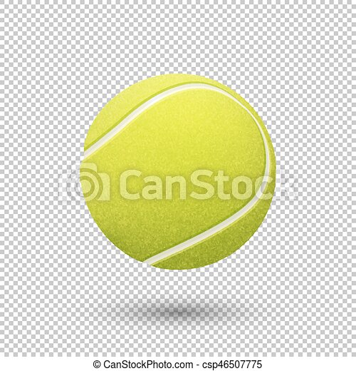 Vector Realistic Flying Tennis Ball Closeup Isolated On Transparent