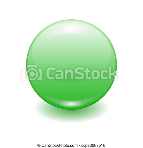 Vector realistic green plastic button - csp70087518