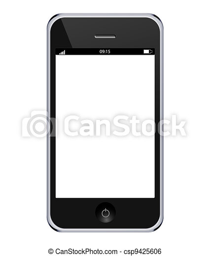 Vector realistic mobile phone isolated on white background. Eps10 - csp9425606