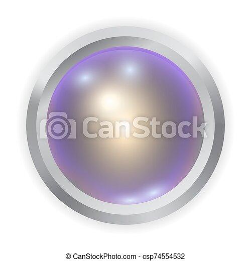 Vector realistic multicolor metal button - csp74554532