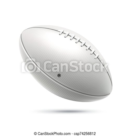 Vector Realistic Rugby Ball For Betting Design Realistic Rugby Ball American Football Equipment Decoration Design Vector
