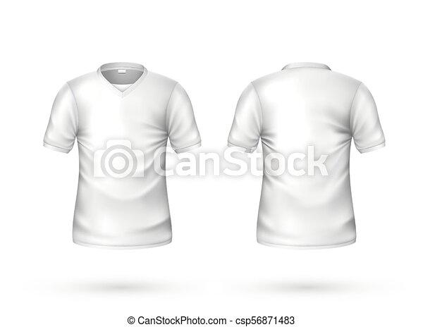 521ed3907 Vector realistic t-shirt white blank mockup