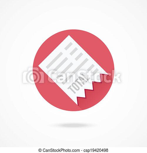 Vector Receipt Icon - csp19420498