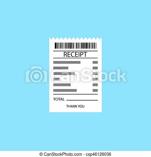Vector receipt icon - csp46126036