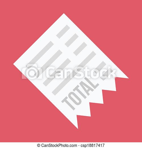 Vector Receipt Icon - csp18817417