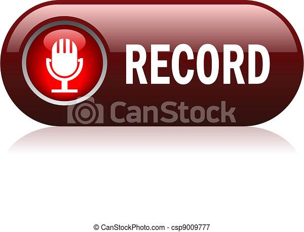 Vector record button - csp9009777