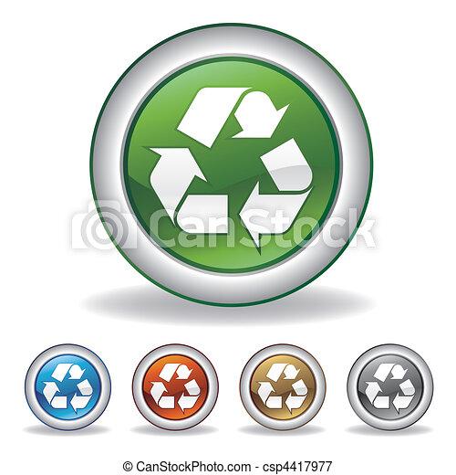 vector recycle icon - csp4417977
