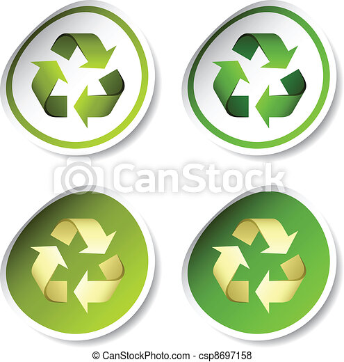 Vector Recycle Stickers Vector Search Clip Art Illustration